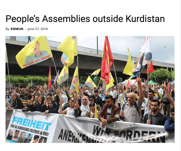 People's Assemblies outside Kurdistan