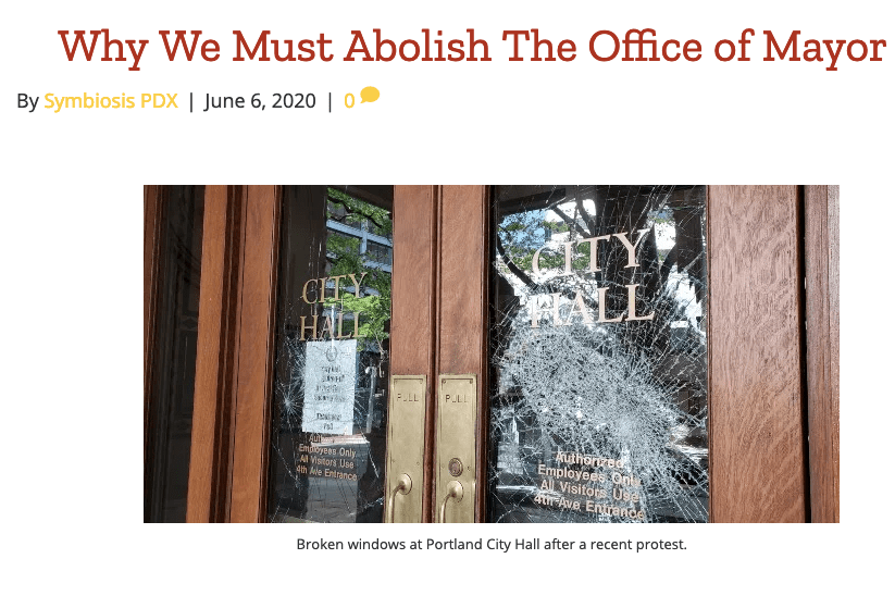 Why We Must Abolish the Office of Mayor