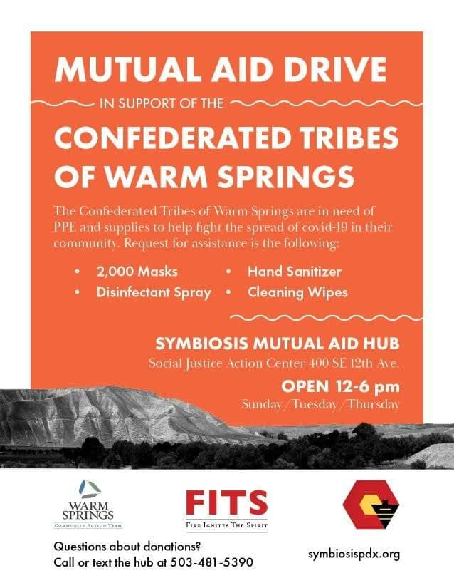 Warm Springs Mutual Aid Drive
