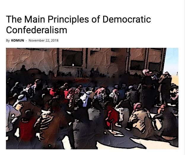 The Main Principles of Democratic Confederalism