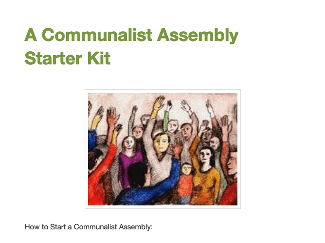 A Communalist Assembly Starter Kit