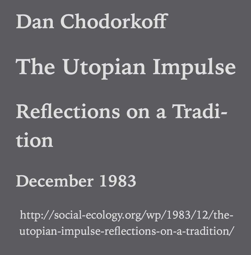 The Utopian Impulse