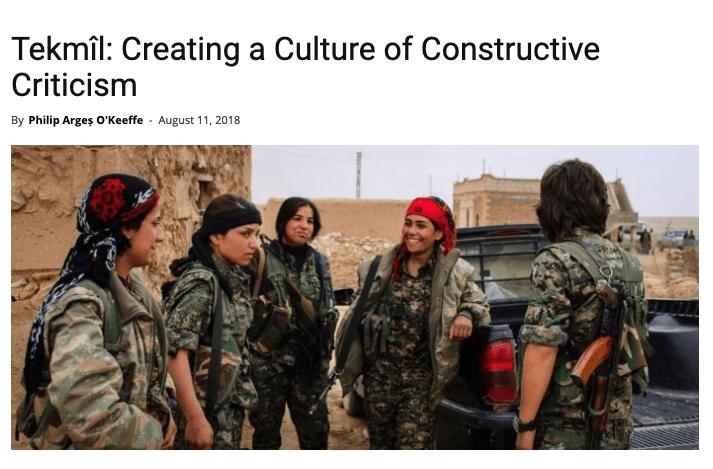 Tekmîl : Creating a Culture of Constructive Criticism