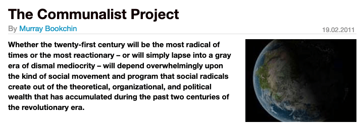 The Communalist Project