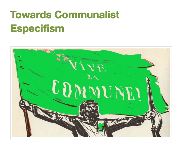 Towards Communalist Especifism
