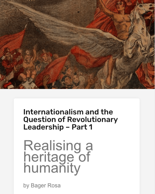 Internationalism and the Question of Revolutionary Leadership